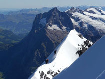 Firngrat kurz unter dem Gipfel