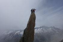 «über dem Sustenhorn», auf der Salbitnadel