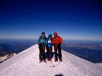 Auf dem höchsten Gipfel der Alpen MB 4808m