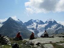 Fuorcla Surlej, hinten Biancograt & Bernina