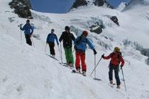 eindrückliche Gletscherabfahrt ins Val d'Ayas