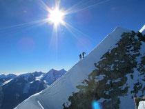der Schlussgrat zum Gipfel