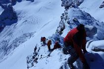kurz unter dem Gipfel des Silvrettahorns