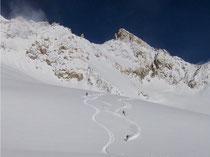 neve fresca e polverosa su Helbronner