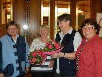v.l.: Anette Icken, Helga Eggers, Friedgard Marwede, Ilsedore Heidmann