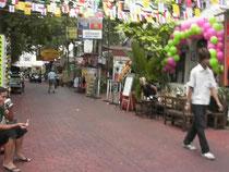 寺裏の通り