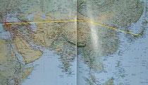 関空からイスタンブールへの航路