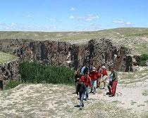 ウフララ渓谷のハイキングへ