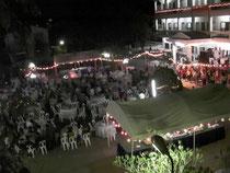 教育省のゲストハウスでの大宴会