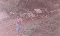 カレン族の集落は山の傾斜地にある