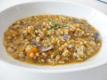 Ricetta minestra di zucca e farro