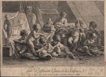 D'après François Boucher, Jean-Charles Levasseur, Les différents génies de la sculpture, 1758, Musée d'Abbeville,  © Bréjat-RMN