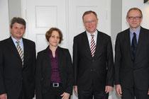 Ulrich Thies, Beate Heyner, Ministerpräsident Stephan Weil, Konrad Müller ,