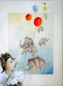 Sieben Elefanten gehen auf Reisen