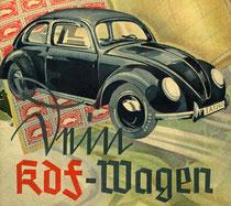 Der KDF Wagen wurde nach dem II Weltkrieg zum Volkswagen.