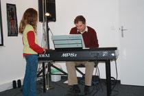 DI Wolfgang Kirschner am Klavier