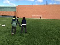 Imagen de la prueba final de los jugadores de Fútbol 8 A