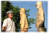 "Paul Widmer 2010 mit den ""Isebähnlern"" im ""Park im Grüene"" Rüschlikon"