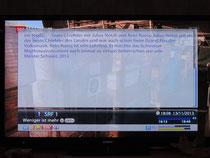 """Ankündigung bei """"weniger ist mehr"""" im CH TV"""