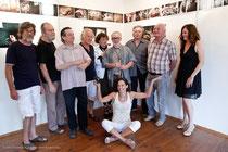 Ein Großteil der Künstler kam zur Vernissage: Mit Peter Ruhso, Peter Pilz, Heinz G. Leitner, Alois Lang, Johann Lamm, Margit Koppendorfer, Ludwig Haas, Heinz Gohlke und Petra Schmögner
