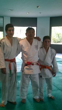 Maestro Kikuchi-VI Dan-, Marco Santoro y Juan Calvi