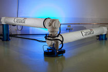The Next-Generation Large Canadarm is a 15-metre robotic arm which is able to collapse and fit onboard future smaller spacecraft (Credit: CSA)