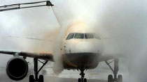 Ice can weigh planes down, or freeze their control surfaces - and is a factor in one in 10 fatal airline crashes, a recent study suggested (Credit: AFP/Getty Images)
