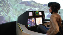 BAE Systems' Striker helmet has been designed to help the pilot communicate with the fighter jet (Credit: BBC)