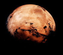 Could life exist on the Red Planet? (Credit: Nasa)