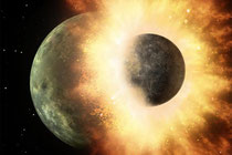 An impact that could have created Earth's moon (Credit: NASA)