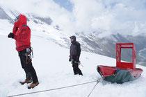 Wolgang Aichner und Thomas Huber bei der Alpenüberquerung