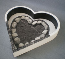 plateau coeur noir et blanc