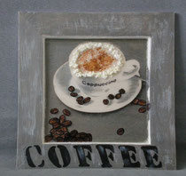 """cadre bois """"cappuccino"""""""