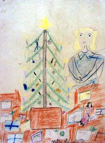 テレジンの子どもたちの描いたクリスマスの絵