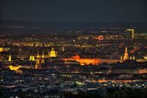 Wien am Abend und bei Nacht