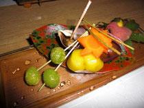 コース料理、前菜の一例です