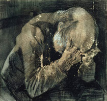 """Man with his Head in his Hands"" của van Gogh"