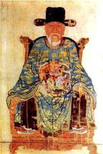 Nguyễn Trãi (Tranh thờ của nhà thờ họ Nguyễn, làng Nhị Khê, Thường Tín, Hà Nội)