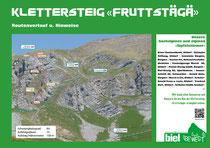 Routenverlauf Klettersteig Fruttstägä