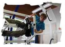 Matteo Kind bei seinem ersten SpaceCurl-Training