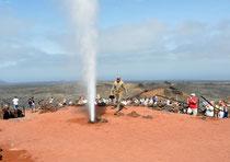 In Timanfaya, den Feuerbergen von Lanzarote