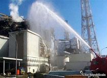 Refroidissement de la centrale de Fukushima suite à la catasrophe qui s'est produite le 11/03/2011