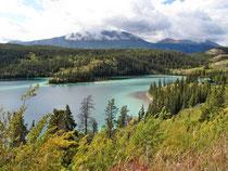Emerald Lake - Blick vom Affenfelsen....