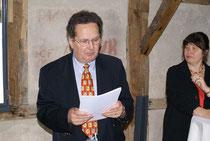 Fritz Jost eröffnet das Treffen