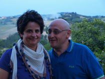Daniela and her husband Fabrizio