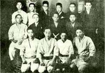Members of Motobu-ryu in the Taisho Period, Osaka, 1926