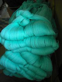 綿糸先染めスガ束