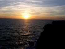 ゴア島の夕日