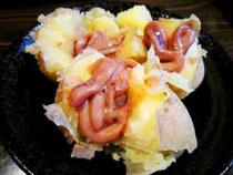 函館定番、ジャガイモに塩辛トッピング