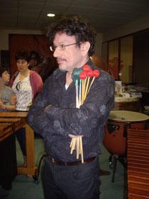 Homme au bouquet